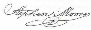 Stephen Moore signature