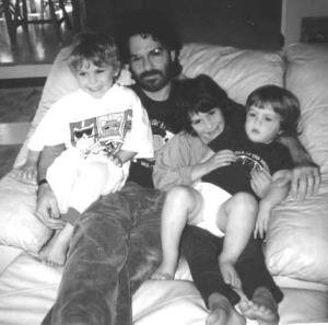 Uncle Dave with Max_ Maddie_ & Robert 1994